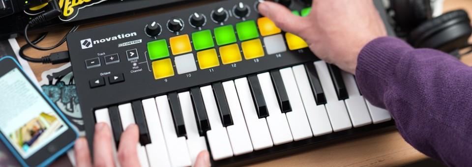 第二代 Novation Launchkey Mini 主控鍵盤,超輕巧,走到哪就玩到哪!