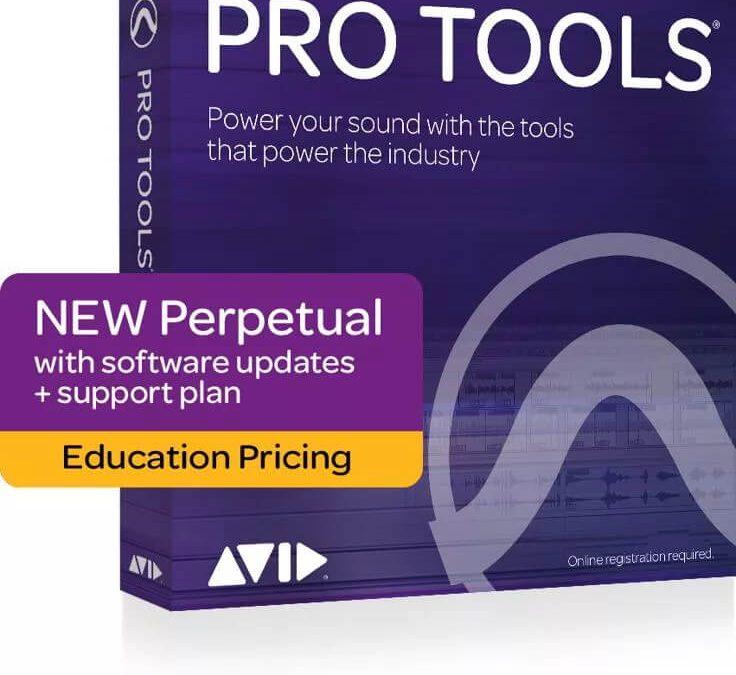 AVID Pro Tools 教育版 (附 iLok3、功能與正式版一樣),永久授權及一年期更新方案